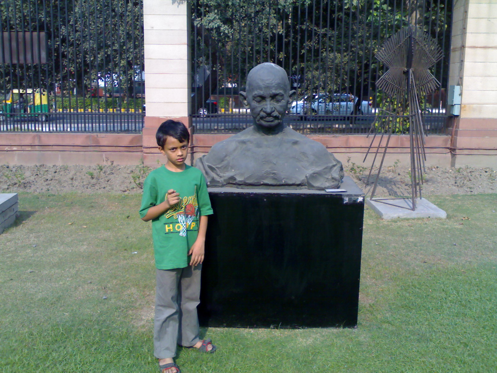 Sahil at same spot-next to Bapu