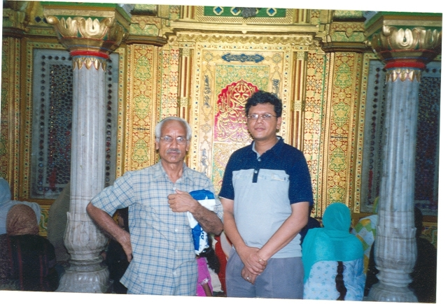 At Hazrat Nizamuddin Dargah..Mausaji-Professor Ram Prasad Nawani and me. Charting new horizons together