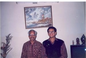 With Professor Ram Prasad Nawani-Dear Mauaji.Palam Vihar.Gurgaon