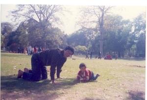 Sagar and me-Playing at Lodhi