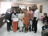 Maltese Indian diaspora The Yoga Group with their certificates-Sukh Sagar Indian Community Centre, San Gjwann, Malta