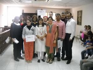 Maltose Indian diaspora The Yoga Group with their certificates-Sukh Sagar Indian Community Centre, San Gjwann, Malta