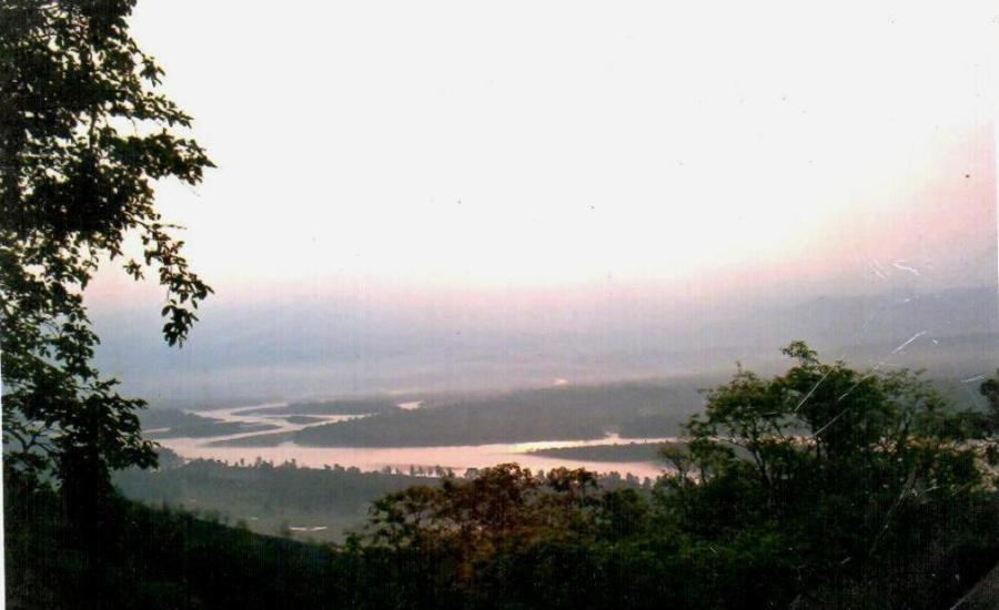 Walks that help me think: Sunrise from Mansa Devi Haridwar June 2003
