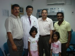 2009 staff- Ravi, with daughters of Uday, Dr.Fathi, Dr.Bahlul Ramadan