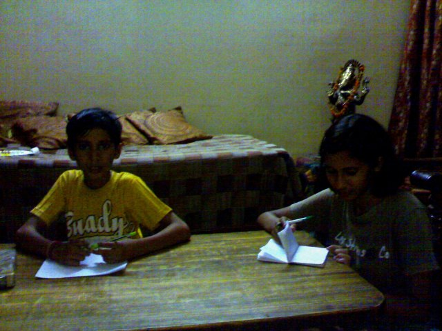 Mayank and Divya-Making Notes