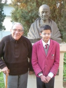Sagar - Father Mintoff M K Gandhi peace lab 2012-3