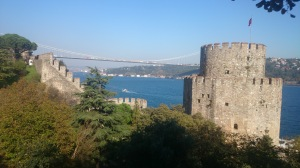 RUMELI FORT.built by Mehmet 11. Nice sea breeze and views, carrying many currents of centuries