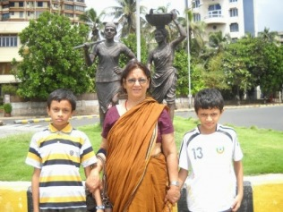 2010 JUNE- MUMBAI With Sagar and Sahil,