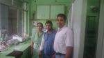 Fraz bhai with his lab staff-Bijwasan