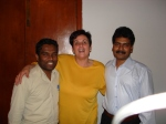 """TRIPOLI EXPATRIATE COMMUNITY- Sister Rossy with Ravi and Uday  SEE BLOG- http://prashantbhatt.com/2013/08/16/diaspora-and-dis-assimilation/   Diaspora experiences in Literature...""""We are a split people"""""""