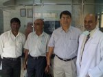LSMC RECEPTION..2013 JUNE...Mehmood Ismail, with Ayub, Santosh, Dr.Shetty