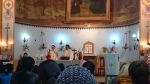 SAN FRANCISCO CHURCH DAHRA...Bishop of Tripoli- Father Giovanni Martnelli addressing the congregation.   see article- BISHOP DEFIES BEHEADINGS- REFUSES TO LEAVE http://www.ibtimes.co.uk/isis-libya-tripoli-catholic-bishop-defies-beheading-threat-refusing-leave-1488525
