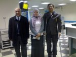 JAN 2011- Dr.Nasr Omrani operated me for my knee. Here seen with crutches-with Bahia and Dr.Hussein Belazi-Pediatrician and good friend