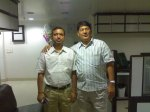 """FRIENDS WHO SHAPED MY PERSPECTIVE- MR.MEHMOOD ISMAIL-Alsiraaj International- with Rajiv Singh-2009...""""Is the glass half full or half empty""""..he taught me many things"""