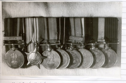 My father's medals. Brigadier General P N Bhatt, Indian Army Medical Corps-1963-1996