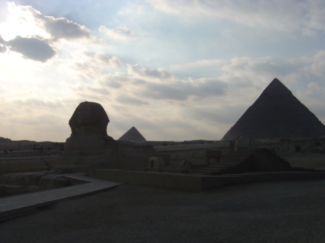 The Pyramids of Giza..