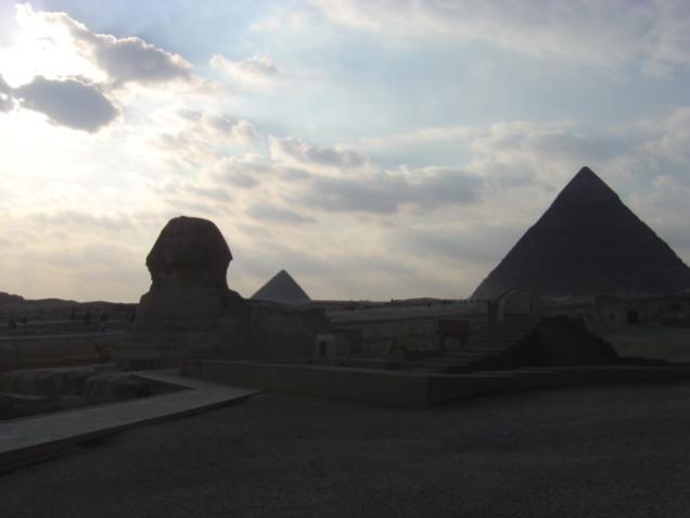 The Pyramids of Giza..