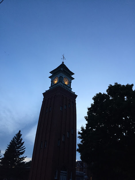 Blog-Nov 2018-Clock Tower near Historical Post Office-Gananoque